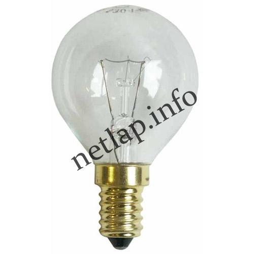 Tűzhely E14 gömb izzó, mikrohullámú sütő lámpa 40W-230V